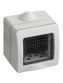 bticino idrobox matix custodia ip55 2 posti moduli stagna da esterno portafrutto bticino 25502