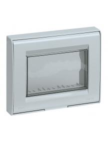 vimar idea calotta placca ip55 3 moduli per idea 8000 grigio stagna esterno vimar 13733.q