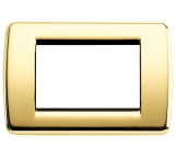 vimar idea  placca rondo 3 moduli posti  oro lucido mostrina metallo vimar 16753.32