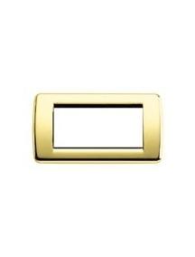 vimar idea  placca rondo' 4 moduli oro lucido mostrina vimar 16754.32