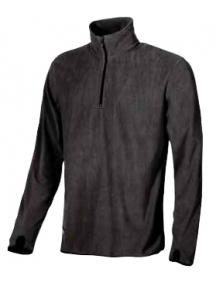 ugu ey041bc-xl artic maglia black carbon a mezza zip in micropile