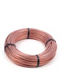 corda treccia rame nudo connessioni elettriche collegamenti di terra 25mm 100 metri FF5CORRIG25M