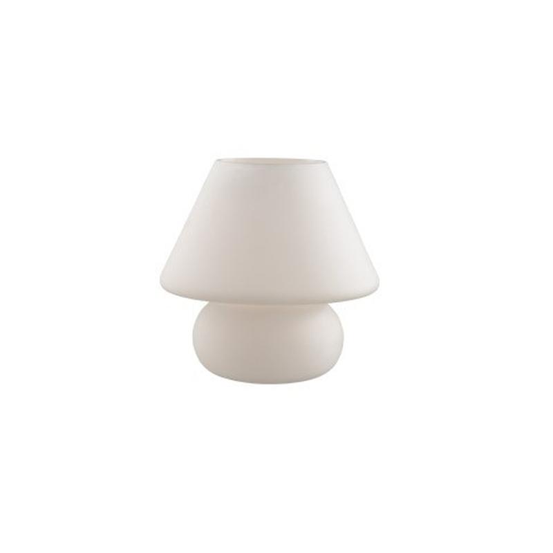 Ideal Lux 074702 prato tl1 lampada da tavolo una luce bianca abat jour di design moderna ...