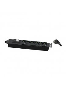 """Faeg 15503 ciabatta barra 6 prese universali  per  rack 19""""+ protezione magnetotermica"""