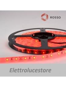 striscia led 12v 24w bobina  5 metri 2100 lumen 300smd3528 colore rosso adesivo impermeabile ip65 0134