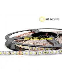 strip led striscia bobina 5 metri  24v 48w 600smd3528 ip65  luce naturale 3600 lumen impermeabile 0716