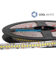 striscia strip led bobina 5 metri  1200smd3528 24V 96w ip20 8400lumen 10mm luce fredda flessibile 1017