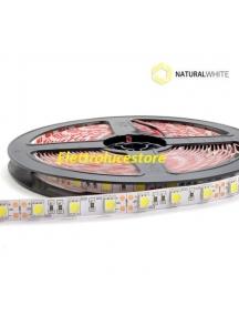 striscia strip led bobina 5 metri  72w 300smd5050 luce naturale   24v ip20 5400lumen 0701