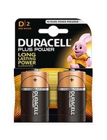 duracel mn1300 batteria blister 2 torcia mono plus power d lr20 DURMN1300