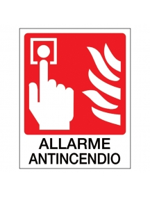 sicame ocmei cartello cartello antincendio con disegno e scritta allarme incendio OCM6CR1662 B