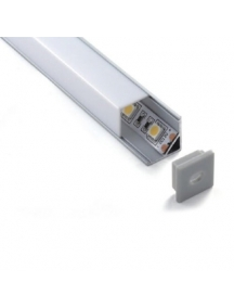 profilo led alluminio barra angolare 1metro strip 8 10mm nuovo mod 1616 quadrato 1896