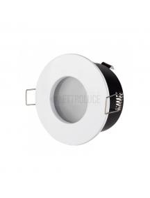 Porta faretto incasso impermeabile bianco IP65 metallo per faretti GU10 2235