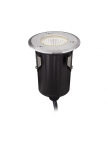 faretto calpestabile led 9W IP68 angolo 38° 12V acciaio inox luce calda qualitativo