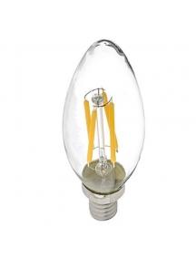 lampadina oliva filo led filamento E14 4W 2700K luce calda vintage 1737