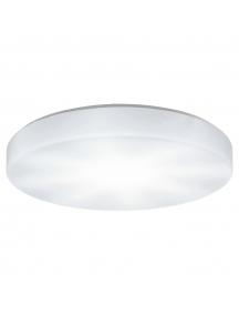 eglo 93632 beramo singolo led luce parete acciaio inox bianco plastica plafoniera moderna
