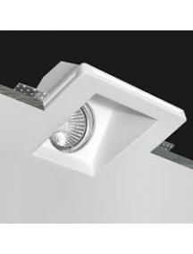 Faretto incasso quadrato luce indiretta in gesso fisso scomparsa verniciabile GU10 nuovo