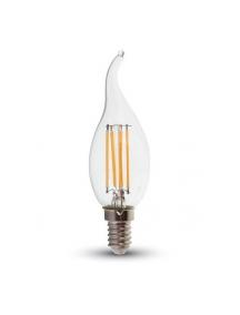 lampadina colpo di vento retro'  fiamma LED 4W filamento  E14 luce fredda