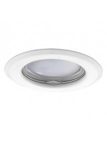 faretto portalampada gu10 mr16 ghiera fisso metallo bianco flangia incasso soffitto ct2114w