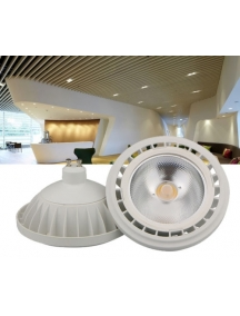 lampada led cob  15w ar111 gu10  220v  bianca 1050 lumen nuova luce calda 36° incasso spot ip15argc6w