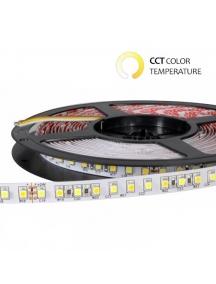 Strisce LED 24V 600SMD3528 CCT Bianco Dinamico 3000-6000K 48W IP65 1123