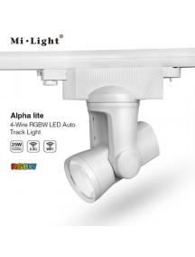 Faretto Binario Trifase Milight 25W AlphaLite RGB + bianco caldo Motorizzato AL6