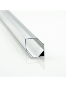 profilo led alluminio barra angolare 1metro  strip 8 10mm 1616 quadrato 1897