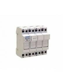 base portafusibile da quadro guida din  3poli 32a  10,3x38mm  3moduli chint 80535