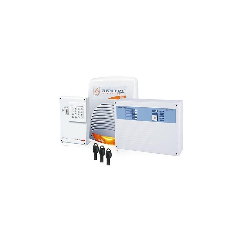 bentel kit norma antifurto casa sicurezza con centrale norma 8 zone GSM e sirena filare ...