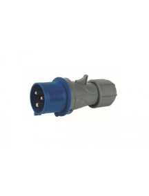 spina volante mobile industriale cee 2p+t 32A 220V IP44 6h rosi 9413 blu