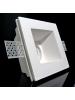 Faretto incasso profondo quadrato in gesso fisso a scomparsa verniciabile x GU10 moderno nuovo