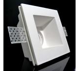 faretto incasso profondo quadrato in gesso ceramico fisso a scomparsa verniciabile per gu10 e mr16   per controsoffitto  csf085