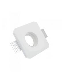 Faretto incasso quadrato gesso arredo fisso scomparsa verniciabile GU10 moderno nuovo