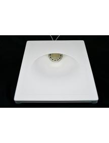 faretto segnapasso in gesso asimmetrico ceramico a scomparsa verniciabile CSF037