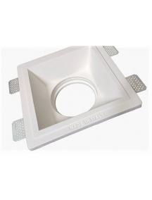faretto da incasso in gesso ceramico quadrato per ar111 csf042