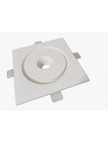 faretto quadrato da incasso in gesso ceramico concentrico csf500