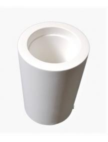 faretto in gesso ceramico cilindrico a soffitto verniciabile csft19
