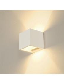 lampada applique moderno da parete in gesso verniciabile up & down cubo CSF110L