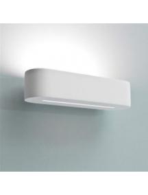 plafoniera lampada applique biemissione in gesso ceramico verniciabile csf100