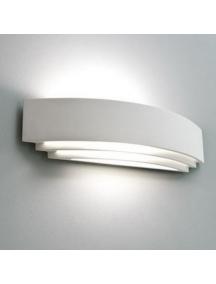 applique plafoniera lampada in gesso ceramico verniciabile biemissione csf105