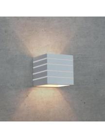 lampada applique moderno da parete in gesso verniciabile up & down cubo rigato 110R