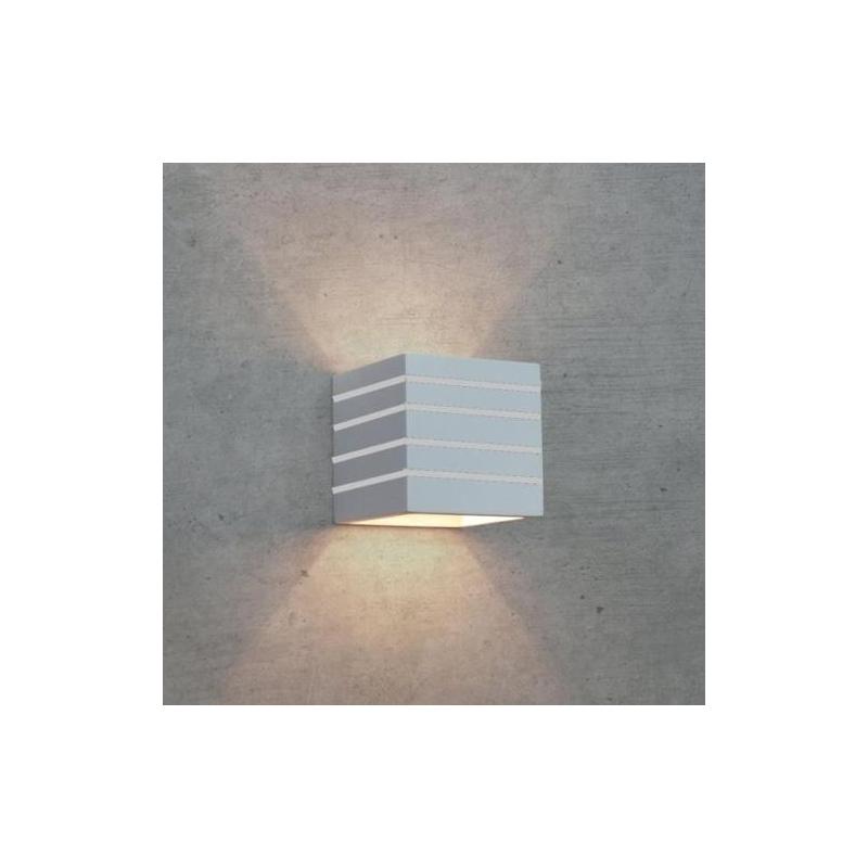Lampada applique moderno da parete in gesso verniciabile - Applique in gesso da parete ...