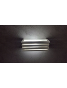plafoniera lampada applique in gesso ceramico verniciabile biemissione csf240