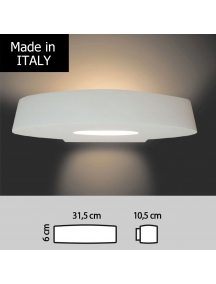 plafoniera lampada applique biemissione in gesso ceramico verniciabile csf333