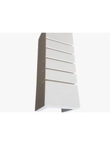 applique lampada a parete biemissione rettangolare in gesso ceramico verniciabile csf516