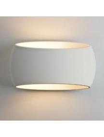 plafoniera applique lampada led a parete biemissione in gesso ceramico csf550