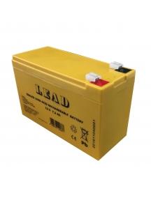 batteria ricaricabile al piombo antifurto 12v 7,2Ah lince 1112