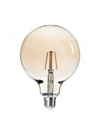 globo led retro' 6w e27 luce calda g125 300° kanlux 26042