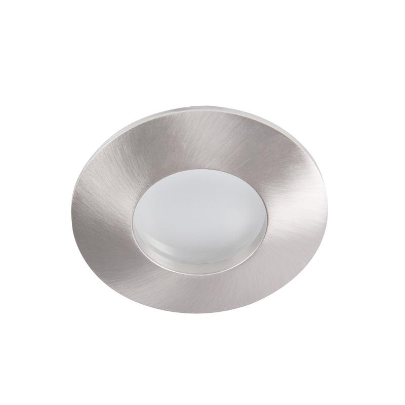 Porta faretto stagno da soffitto satinato grigio per led for Faretto stagno da giardino gu10