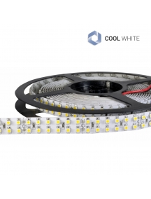 strisce led 24v 1200smd3528 doppia 96w ip20 strip 5M 14mm 6000k 0759