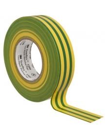 nastro isolante autoestinguente in pvc 19x25mm giallo verde 3m 7000106700